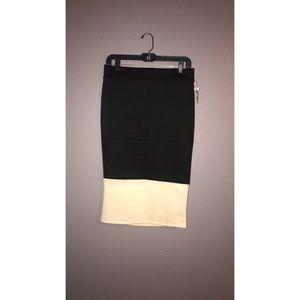 Black and Cream Skirt